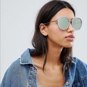 QUAY Dreamy Ways Mirrored Sunglasses Lilac